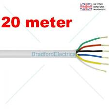 6 Core Alarm Cable 20m. meter White. Top Quality CQR British Made. Free UK