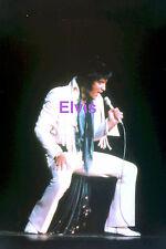 ELVIS PRESLEY IN SHORT FRINGES ON STAGE LAS VEGAS 1970 PHOTO CANDID