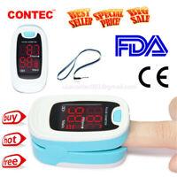 CONTEC Pulsossimetro dito,Ossigeno nel sangue forma onda valore SpO2