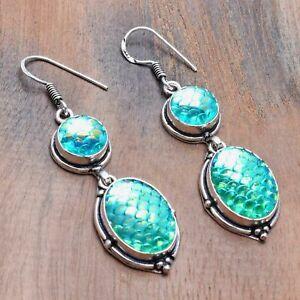 "Rainbow Fish Titanium Handmade Drop Dangle Earrings Jewelry 2.2"" AE 20752"
