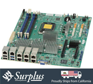 Supermicro Motherboard X10SLH-LN6TF X10SLH-N6-ST031 6x 10GBE PW CLEARED X540-T2