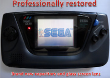 NEW GLASS SCREEN Sega Game Gear Launch Edition Black Handheld System