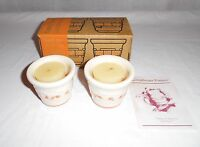 Longaberger Halloween Fall Candy Corn Set Of 2 Votive Cups With Candles #37508
