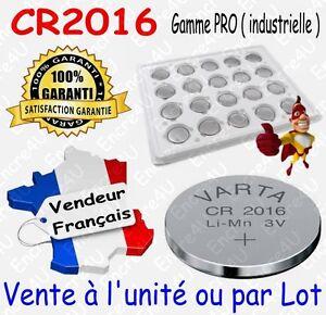 VARTA CR2016 BULK ( Lithium 3V ) : x 1 ou par lot de 2 5 10 20 50 ou 100 piles