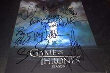 Game Of Thrones Cast x10 Signed 11x14 Photo COA Sophie Turner Kit Harington Look