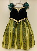 NWT Girls 4/5 Disney Parks Frozen Princess Anna Coronation Dress Costume NEW