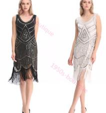 dress gatsby flapper 1920s beaded size uk fringe 8 vintage sequin s 14 great 24