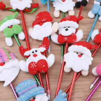 2PC Cute Christmas Ballpoint Pen Snowman Santa Claus Xmas Kids Writing Tools