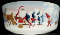 Arabia Finland Santa Claus w/ elves Christmas tree bowl theme by Kaj Franck NEW
