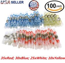100PCS Heat Shrink BUTT CONNECTOR Solder Sleeve Waterproof 26-10 AWG Wire Splice