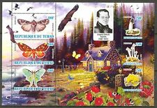 Chad 2010 Butterflies & Mushrooms II Birds Eagle Flowers Sh of 6 MNH** Privat !