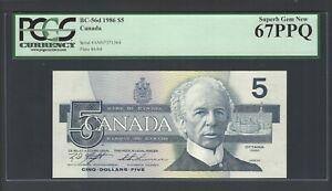 Canada 5 Dollars 1986 BC-56d Uncirculated Graded 67