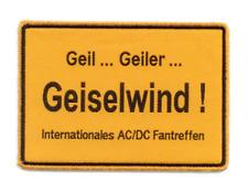 Aufnäher INTERNATIONALES AC/DC FANTREFFEN   woven patch  ACDC fanmeeting event