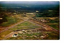 Bird's Eye Aerial View-Prince George Airport-Runway-Vintage Postcard