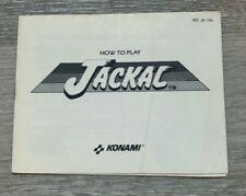 Jackal NES Instruction Manual Only