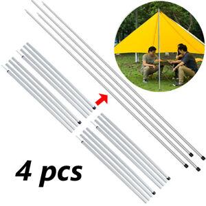 4 Pack 2m Universal Aluminum Adjustable Camping Tarp Telescoping Tent Poles AU