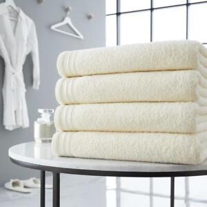 Wilsford 4 Piece Egyptian Cotton Large Bath Sheet Soft Towel Bale Set 600 GSM