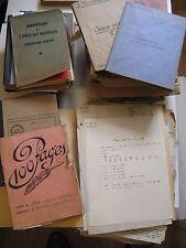 Manuscrits Autographes INGENIEUR MARTINEAU 1940-50 LA BATHIE SAVOIE MECANIQUE