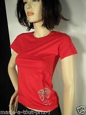KENZO WAVE DONNA T SHIRT ROUGE MANCHES COURTES ETE TAILLE 46 (taille petit)