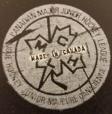 VINTAGE CMJHL QUEBEC REMPARTS MAJOR JUNIOR stamped made in canada OLD GAME PUCK
