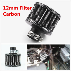 Carbon12MM Round Mini Oil Air Intake Crankcase Vent Valve Cover Breather Filter