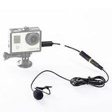 externes Mini-USB-Mikrofon, 3,5 mm, mit Clip, für GoPro Hero 3 / 3+ und andere K