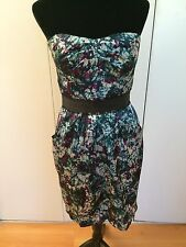 Nordstrom Max and Cleo Women's Dress Size 8 Multi-colored Strapless Pencil
