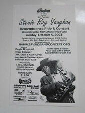 Stevie Ray Vaughan Remembrance Ride handbill 2003