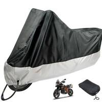 Durable  Motorcycle Motorbike Rain Dust Cover Water Dust Protection Black UK