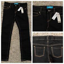 NWT Old Navy Girls Black Super Skinny Jeans Pants Adjustable Waist Size 6
