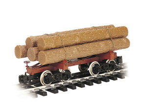 BACHMANN G-Scale 98490 Skeleton Log Car w/ Logs, Metal Wheels, Knuckle Couplers