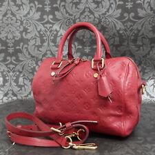 Rise-on  LOUIS VUITTON MONOGRAM Empreinte Speedy 25 Pink Red Shoulder Bag #9
