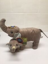Ringling Bros. & Barnum Bailey Circus Mother Baby Scale Faux Fur Plush Elephant