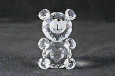 Crystal Bear with clear heart - Birthday, Christening, Birth Gift, New baby -NEW