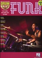 Drum Play-Along Learn to Play Funk Music Pop Songs Drummer Book & CD