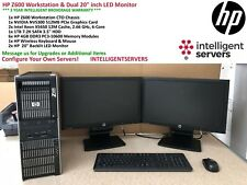 "HP Z600 Workstation, 2x X5650 6-Core, 24GB, 1TB, NVS 300, Dual 20"" LED Monitors"
