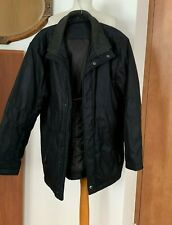 Douglas Black Quilted Lining Warm Winter Coat Size 42 – chest measures 48""