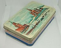 Very Old Soviet Empty Candy Tin Box RED SQUARE in MOSCOW, USSR, Russia, 1950s #2