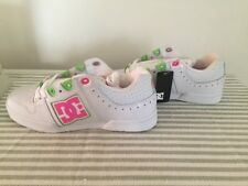 NEW IN BOX WOMENS DC SHOES TURBO White / Fluorescent Pink SIZE 7