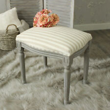 Dressing Table Stool French Grey Chair Seat Office Bedroom Furniture Padded Chic