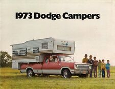 Dodge Campers 1973 USA Market Sales Brochure Sportsman D100 D200 W200 D300 MB300
