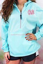 Monogrammed Pullover Rain Jacket Charles River Pack-N-Go S-XL