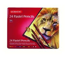 Derwent Pastel Pencils Tin - Multicoloured, Set of 24 superb gift