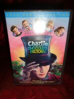 Charlie and the Chocolate Factory (DVD, 2005, Full Frame) Johnny Depp