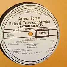 RADIO SHOW: AFN RL48-5 SAMMY DAVIS JR,  & JACK JONES 'MY KIND OF TOWN'