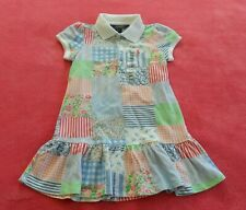 Ralph Lauren PATCHWORK COTTON POLO Dress Floral shirt print top~Girl sz 4/4T~nwt