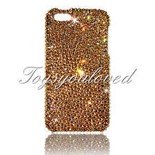 IPhone XS Max Gold Bumpie BLING BACK CASE COVER  Made w/ 100% SWAROVSKI CRYSTAL