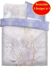 Neuf Disney Frozen Double Housse Couette Set Fille Enfants Blanc Lilas Lit Gift