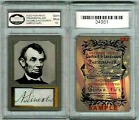 Abe Lincoln United States Presidential ACEO Portrait Sample Card Graded10