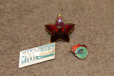 Original Soviet Union (Russian) Metal Insignia Lot, Three Items in Total